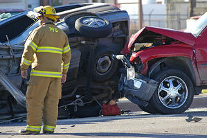 Image_Car Accident with Firefighter