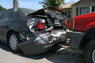 Car accident involving a teenager