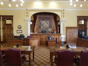 empty traditional court room